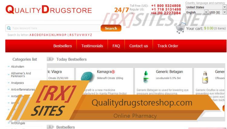 Qualitydrugstoreshop.com Review - A Drugstore that does not Require a Prescription