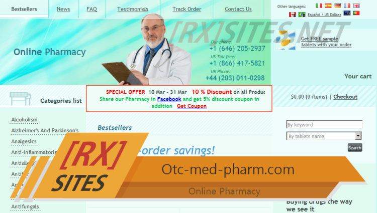 Otc-med-pharm.com Review - A Pharmacy that is No Longer in Operation