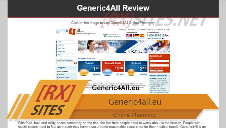 Generic4all.eu Review – Europe-Based Online Pharmacy that Provided Cheaper Alternatives to Branded Drugs