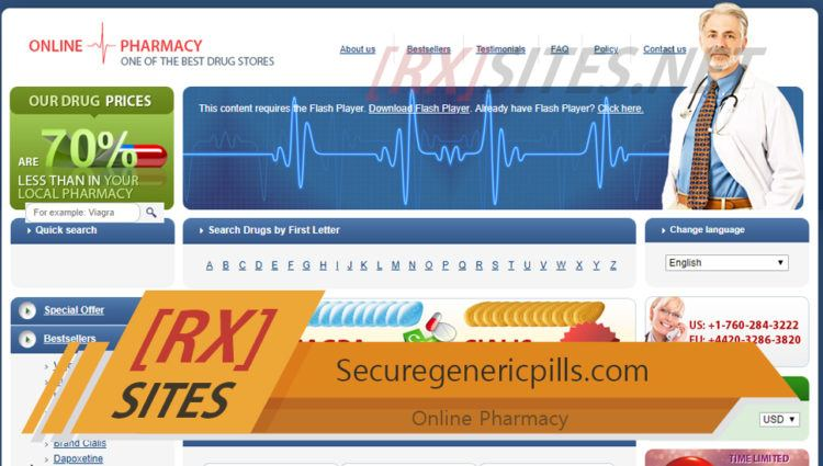 Securegenericpills.com Review – A Closed Pharmacy Site Claiming to Help Buyers Save Over 70%