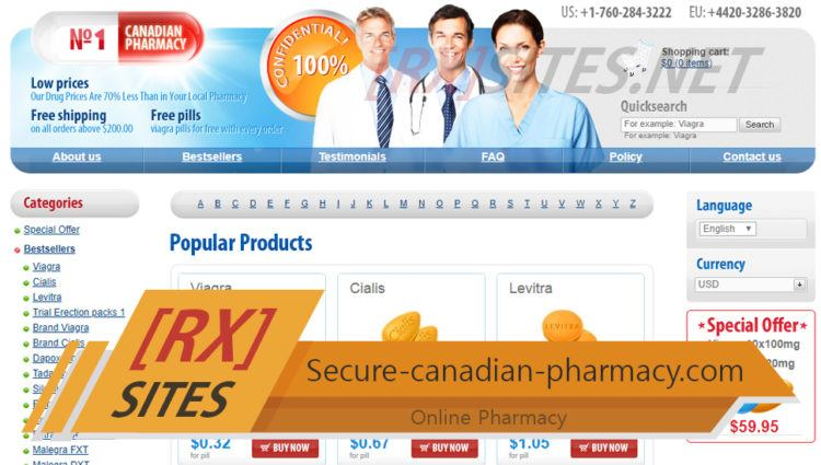 Secure-canadian-pharmacy.com Review - Pharmacy with an Uncertain Reputation