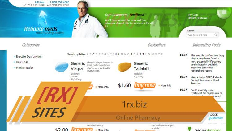 1rx.biz Review – Closed Niche Vendor Focusing on Selling Male Products