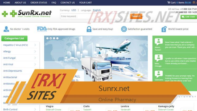 Sunrx.net Review – Already Closed and is No Longer Operating