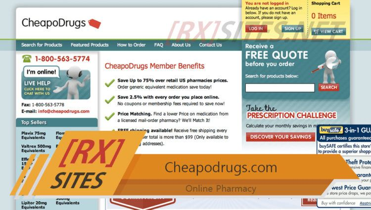 Cheapodrugs.com Review – Was an Online Pharmacy That Sold Drugs at Low Prices